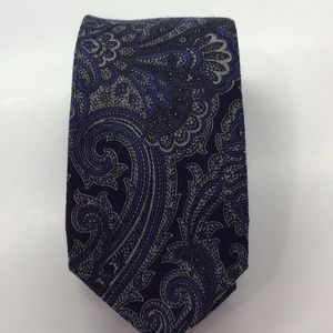 Hand made tie, Blue gray, clean great condition
